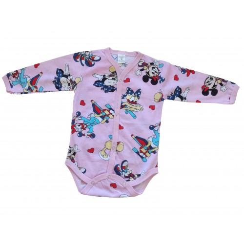 Розово бебешко боди с Мини Маус